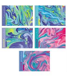 """Альбом для рисования 32л., А4, на спирали Hatber """"Эбру. Воздушные облака"""", фольг., перфор. на отрыв"""