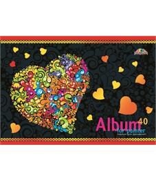 Альбом для рисования 40 л. А4 Цветное сердечко
