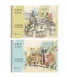 """Альбом для рисования 40л., А4, на гребне ArtSpace """"Городские зарисовки"""""""