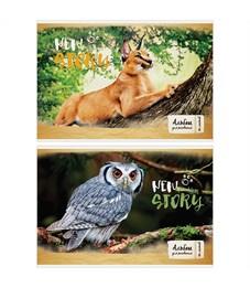 """Альбом для рисования 40л., А4, на скрепке ArtSpace """"Животные. New story"""""""
