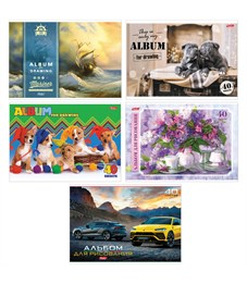 """Альбом для рисования 40л., А4, на скрепке Hatber """"Ассорти"""""""