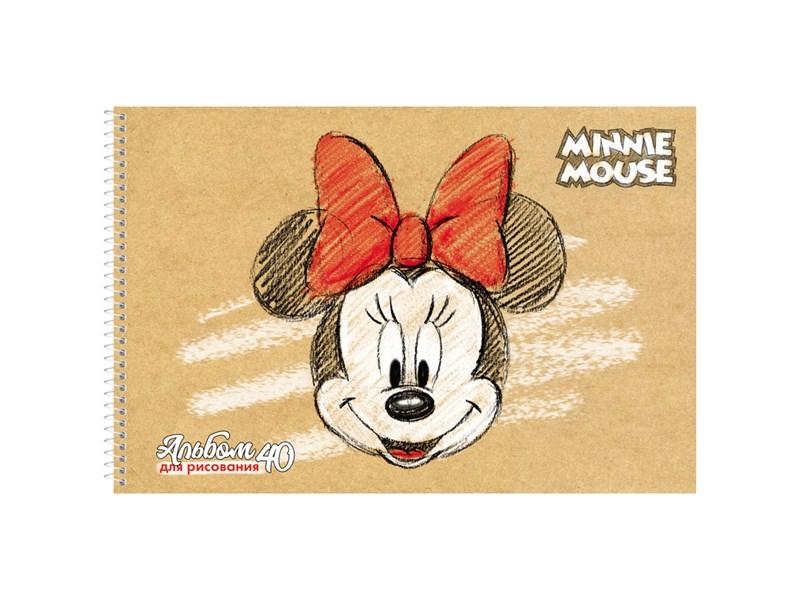 """Альбом для рисования 40л., А4, на спирали Hatber """"Disney. Микки Маус"""", с перфорацией на отрыв"""