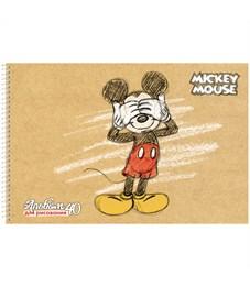 """Фото 6. Альбом для рисования 40л., А4, на спирали Hatber """"Disney. Микки Маус"""", с перфорацией на отрыв"""
