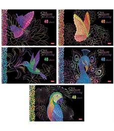 """Фото 1. Альбом для рисования 40л., А4, на спирали Hatber """"Мозаика"""", 3D-лак, 3D-фольга, перфорация на отрыв"""