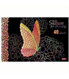 """Фото 3. Альбом для рисования 40л., А4, на спирали Hatber """"Мозаика"""", 3D-лак, 3D-фольга, перфорация на отрыв"""