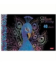 """Фото 5. Альбом для рисования 40л., А4, на спирали Hatber """"Мозаика"""", 3D-лак, 3D-фольга, перфорация на отрыв"""