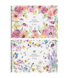"""Альбом для рисования 48л., А4, на гребне ArtSpace """"Цветы. Tender garden"""""""