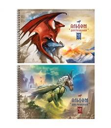 """Альбом для рисования 48л., А4, на гребне ArtSpace """"Dragon land"""""""