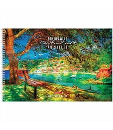 """Альбом для рисования 48л., А4, на спирали Hatber """"HD Уютный уголок"""", перфорац., жест. подл., выб лак"""