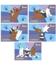 """Альбом для рисования 48л., А4, на спирали Hatber """"We Bare Bears. Вся правда о медведях"""", перфорация"""