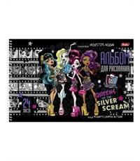Альбом для рисования Hatber Monster High А4, 24 листа, спираль