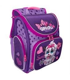 Ранец Grizzly, 34*37*18см, 1 отделение, 3 кармана, анатомическая спинка, фиолетовый-лаванда