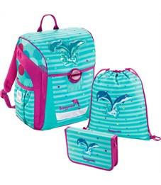Ранец школьный Hama Step By Step BaggyMax Trikky Dolphin с наполнением