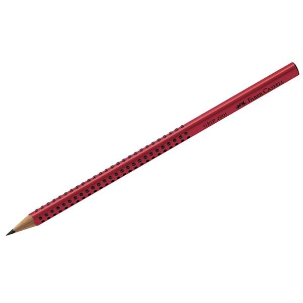 """Карандаш ч/г Faber-Castell """"Grip 2001"""" B, трехгран., заточен., красный"""