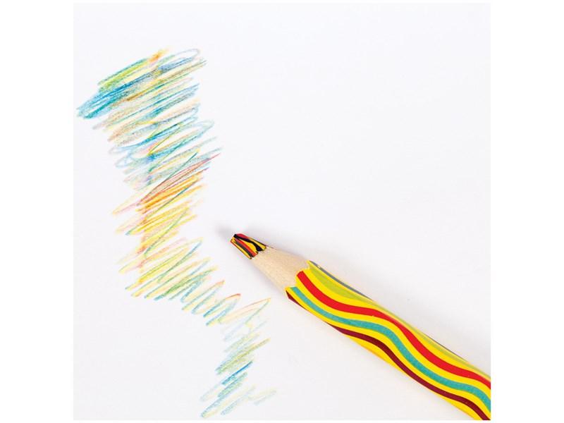"""Карандаш с многоцветным грифелем Мульти-Пульти """"Енот и радуга"""", утолщенный, заточен."""