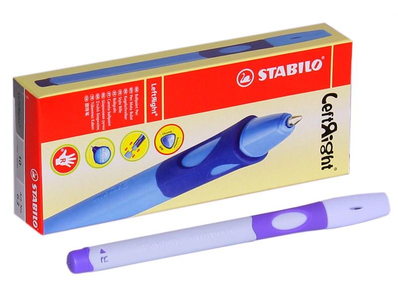 Шариковая ручка из серии Stabilo LeftRigh для правшей (R) лавандовый корпус