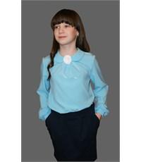 Фото 2. Нарядная блузка Mattiel с декоративным украшением Розочка бирюзовая