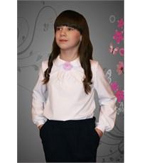 Фото 2. Нарядная блузка Mattiel с декоративным украшением Розочка цвет белый