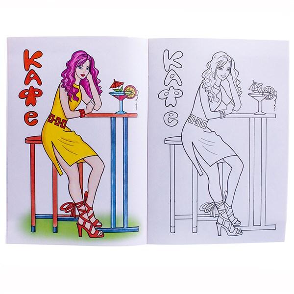 """Раскраска A5, Алтей и Ко """"Для девочек. Посмотри и раскрась. В мире моды"""", 16стр."""