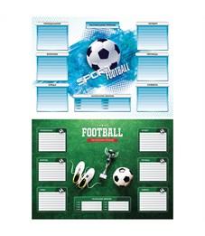 """Расписание уроков с расписанием звонков A3 ArtSpace """"Спорт. Футбол"""""""