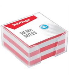 """Блок для записи Berlingo """"Standard"""", 9*9*4,5см, пластиковый бокс, цветной"""