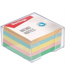 """Блок для записи Berlingo """"Standard"""", 9*9*4,5см, в пластиковом боксе, цветной"""