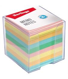 """Блок для записи Berlingo """"Standard"""", 9*9*9см, в пластиковом боксе, цветной"""