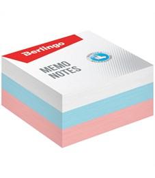 """Блок для записи Berlingo """"Триколор"""", 9*9*4,5см, цветной, пастель"""