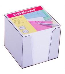 Блок для записи Erich Krause, 9*9*9см, пластиковый бокс, белый