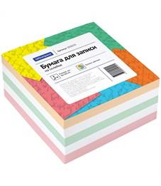 Блок для записи на склейке OfficeSpace, 9*9*4,5см, цветной