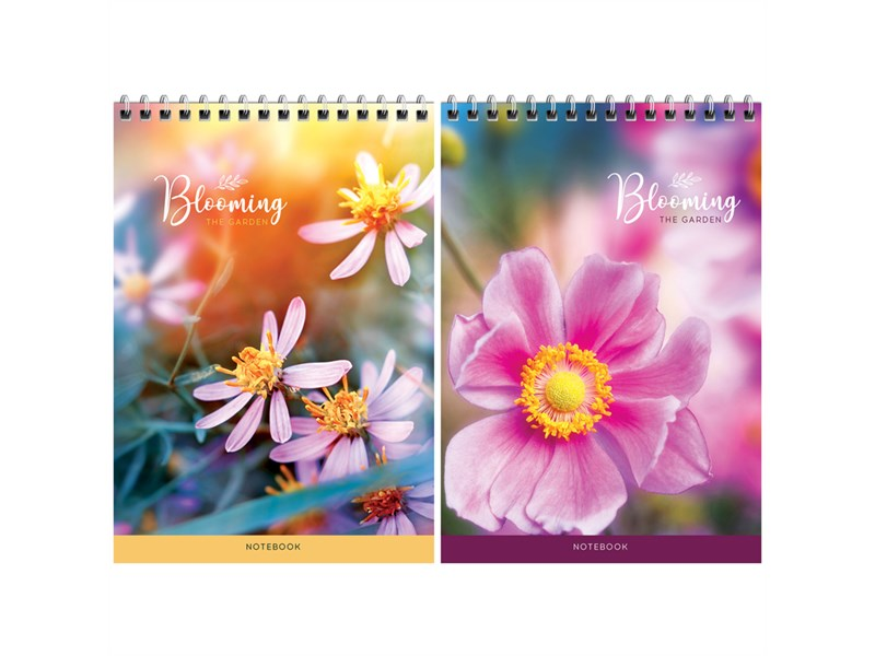 """Блокнот А5 60л. на гребне ArtSpace """"Цветы. Blooming the garden"""", твердая подложка"""