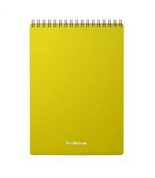 """Блокнот А5 60л. на гребне Erich Krause """"Classic"""", желтая пластиковая обложка"""