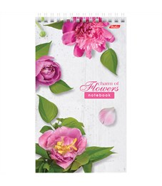 """Фото 2. Блокнот А5 60л. на гребне Hatber """"Flowers"""", линия, пластиковая обложка, жесткая подложка, 80 г/м2"""