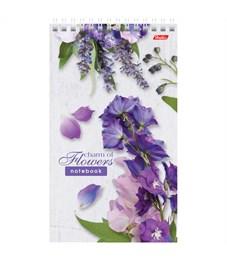 """Фото 3. Блокнот А5 60л. на гребне Hatber """"Flowers"""", линия, пластиковая обложка, жесткая подложка, 80 г/м2"""