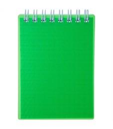 """Блокнот А5 80л. на гребне Hatber """"Diamond Neon- Зеленый"""", пластиковая обложка"""