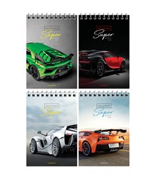 "Блокнот А6 40л. на гребне ArtSpace ""Авто. Ultimate super cars"""
