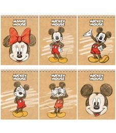 """Блокнот А6 40л. на гребне Hatber """"Disney. Микки Маус"""""""