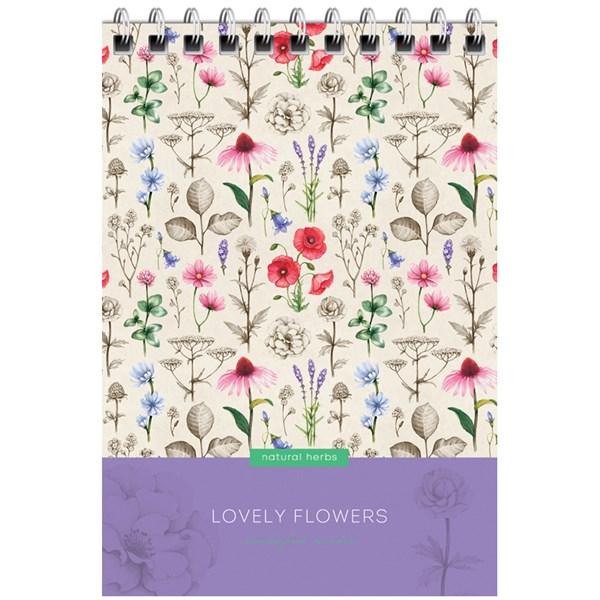 """Блокнот А6 60л. на гребне ArtSpace """"Цветы. Lovely flowers"""""""