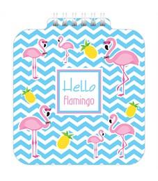 """Фото 1. Блокнот А6 60л. на гребне Hatber """"Hello flamingo"""", с фигурной высечкой"""