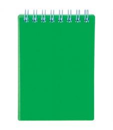 """Блокнот А6 80л. на гребне Hatber """"Diamond Neon- Зеленый"""", пластиковая обложка"""
