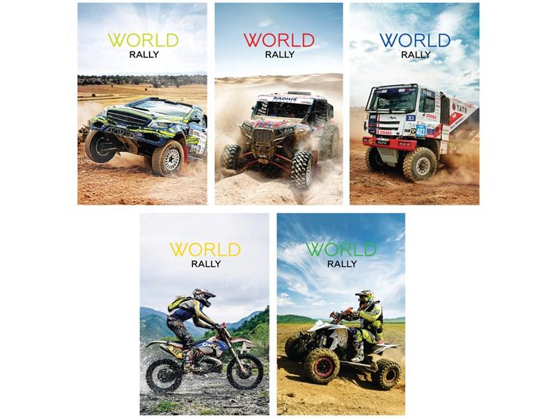 """Блокнот А7 48л. на склейке ArtSpace """"Авто. World rally"""""""
