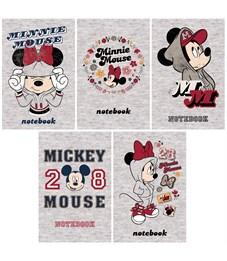"""Блокнот А7 48л. на склейке Hatber """"Disney. Микки Маус"""", 3-х цветный блок"""