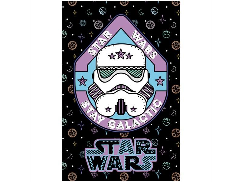 "Блокнот А7 48л. на склейке Hatber ""Lucas star wars. Звездные войны"", 3-х цветный блок"