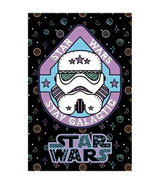 """Фото 2. Блокнот А7 48л. на склейке Hatber """"Lucas star wars. Звездные войны"""", 3-х цветный блок"""