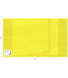 Обложка 210*350 для дневников и тетрадей, Greenwich Line, ПВХ 180мкм, neon желтый, шк