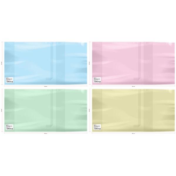Обложка 233*450 для учебников, универсальная, ArtSpace, цветная, с закладкой, ПЭ 200мкм