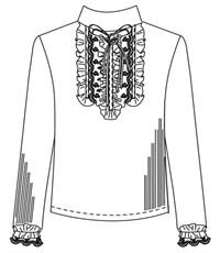Фото 5. Блуза школьная Инфанта белая