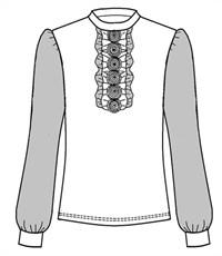 Фото 2. Блуза школьная Инфанта