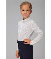 Фото 2. Блуза школьная Инфанта белая