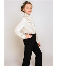 Фото 2. Блуза школьная Инфанта модель 0640 белая